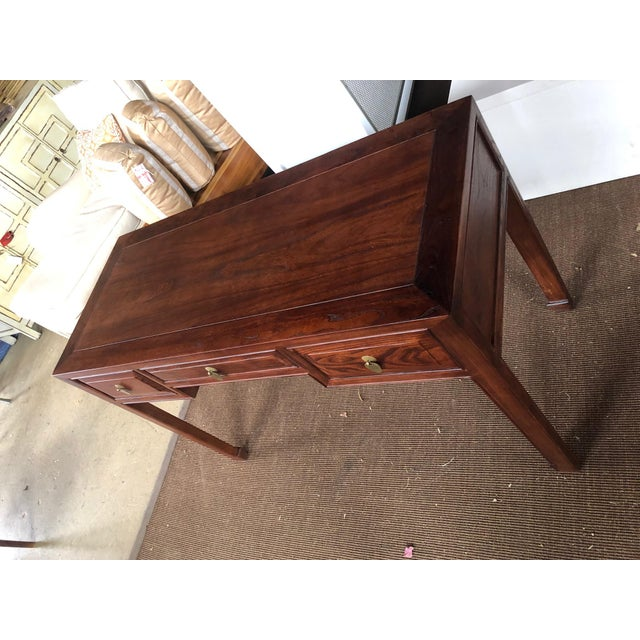 Ming Style Walnut Writing Desk For Sale In West Palm - Image 6 of 7