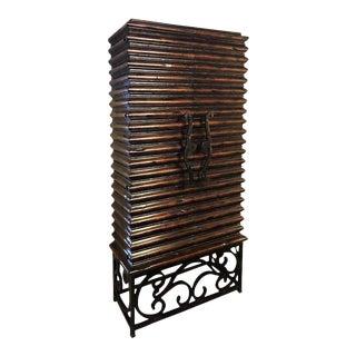 Monumental Jonathan Charles Art Deco Custom Quality Bar or Wine Cabinet For Sale