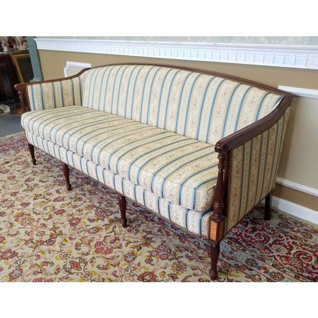 Mahogany Fantastic Hickory Chair Company James River Collection Sheraton Mahogany Sofa For Sale - Image 7 of 10
