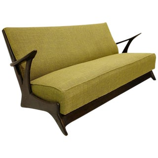 1950s Belgium Sofa in the Style of Alfred Hendrickx For Sale