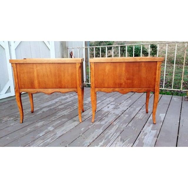 1980s French Walnut End Tables - a Pair For Sale - Image 6 of 13