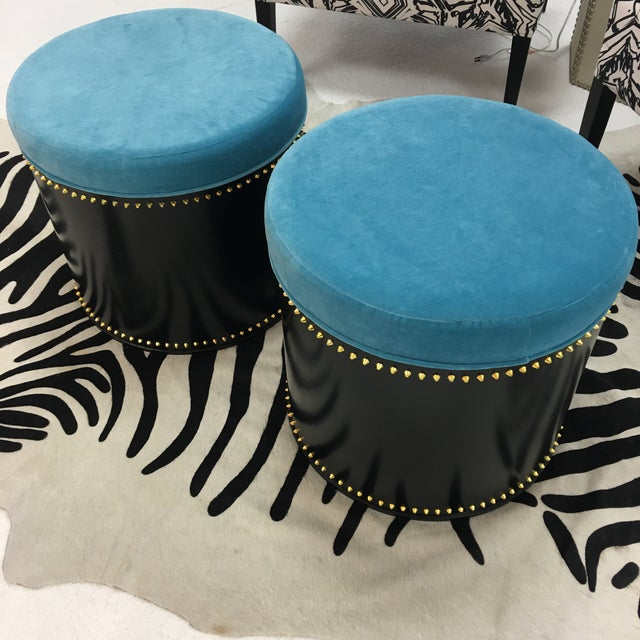 Taylor Burke Home Rivet Stools - A Pair - Image 2 of 3