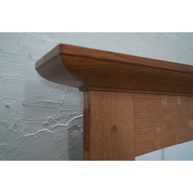 Stickley Mission Oak Natural Finish Wall Mirror - Image 8 of 10