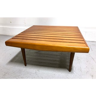 Mid Century Danish Modern Wood Slat Table / Bench Preview