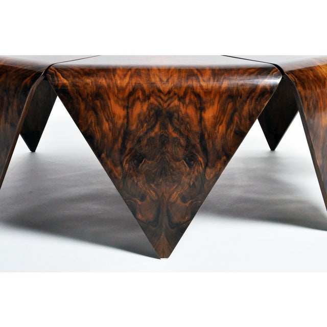 Hungarian Walnut Octagonal Coffee Table For Sale In Chicago - Image 6 of 13