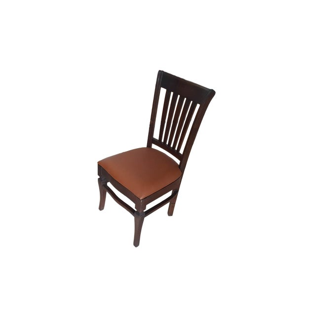 Teak Wood Classic Dining Chairs - Set of 6 - Image 3 of 5