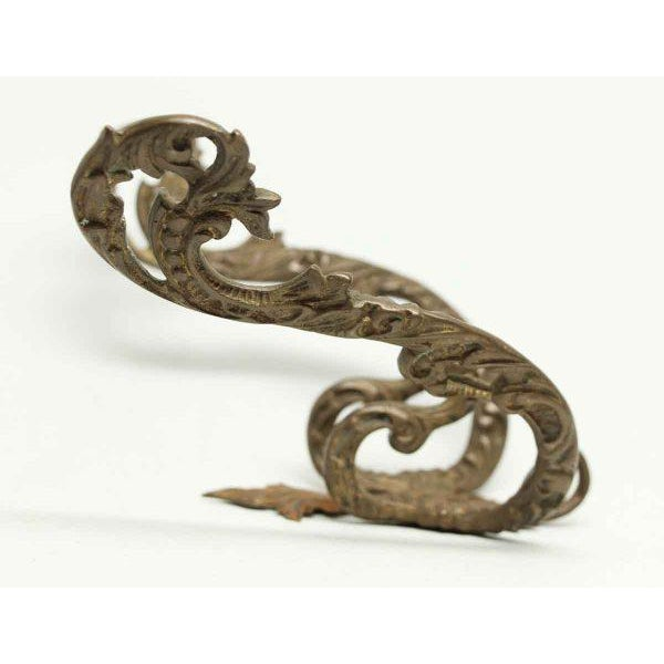 Mid 20th Century Double Arm Gilded Bronze Hooks - A Pair For Sale - Image 5 of 6