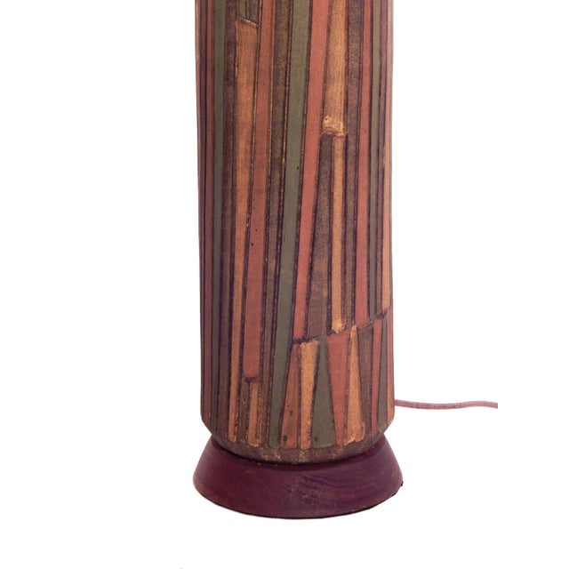 Bronze Tall Striking Aldo Londi Table Lamp For Sale - Image 7 of 10