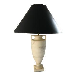 Vintage Etruscan Alabaster Urn Form Lamp by Vaughn For Sale