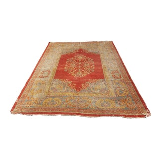 Large Distressed Bohemian Antique Area Rug - 9' X 13'