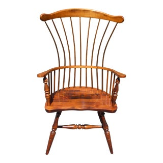 Vintage Sugar Hill Furniture Co Fan Back Windsor Arm Chair Maine Comb-Back Chair For Sale