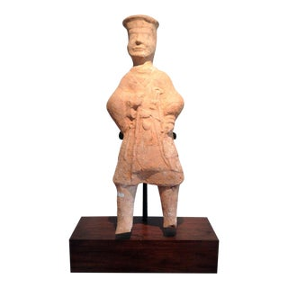 Large Chinese Terracotta Tomb Figure East Han Dynasty For Sale