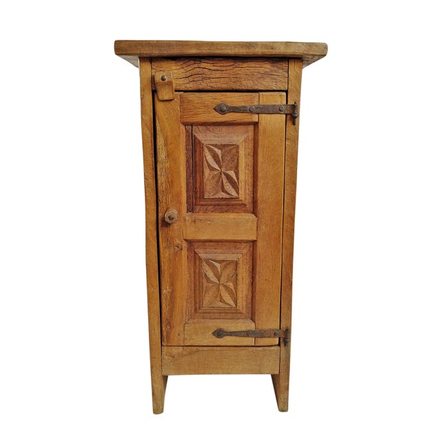 Vintage Mesquite Side Cabinet For Sale