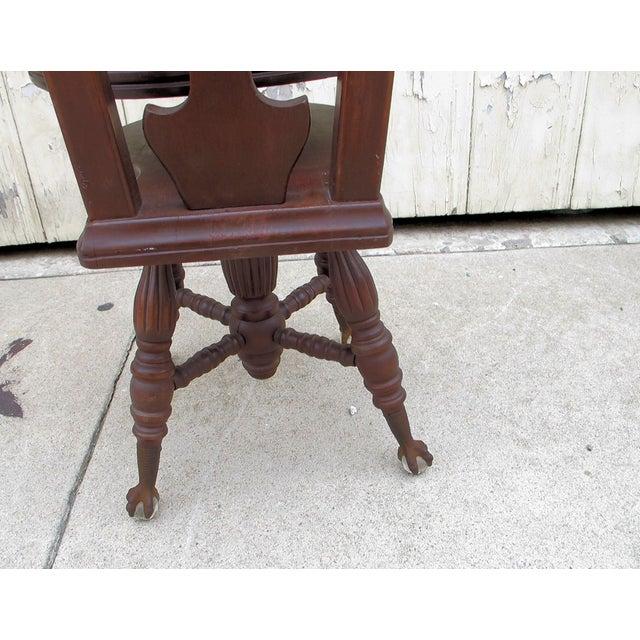 Civil War Piano Chair - Image 4 of 7