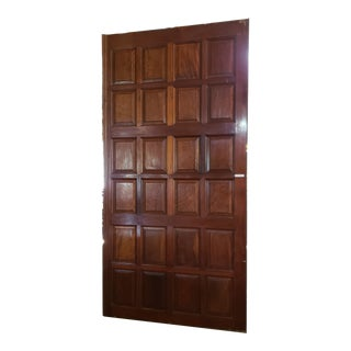 English Mahogany Paneled Doors - a Pair For Sale