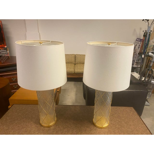 Fisher Weisman Montgolfier Grand Table Lamps - a Pair For Sale - Image 9 of 12