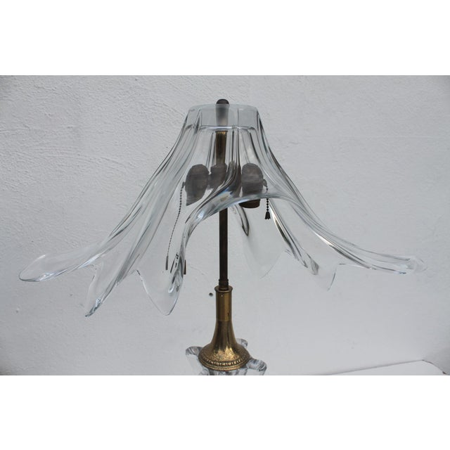 Vintage French Murano Glass Table Lamp - Image 5 of 11