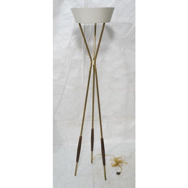 Mid-Century Gerald Thurston Tripod Floor Lamp   Chairish