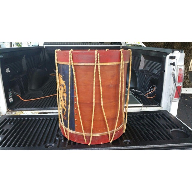 Polychrome 1950s Vintage Polychromed Drum Form Table For Sale - Image 7 of 10