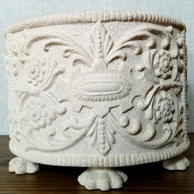 """""""Hen-Feathers"""" Footed Planter For Sale In Dallas - Image 6 of 6"""