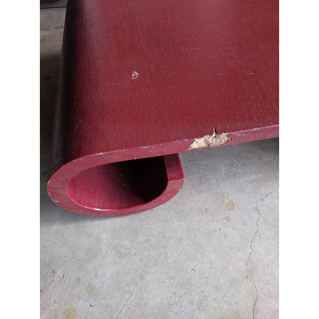 Karl Springer Style Lacquered Scroll Cocktail Table For Sale - Image 12 of 13