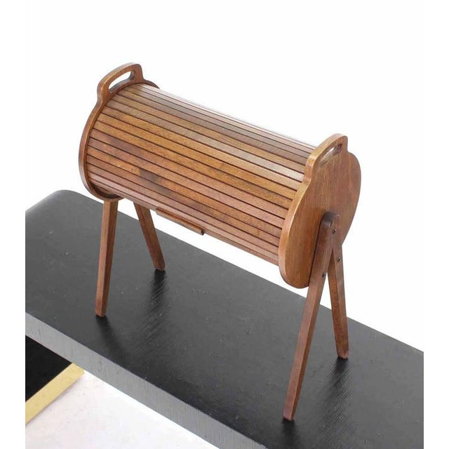 Danish Modern Danish Mid-Century Modern Drum Shape Sewing Stand For Sale - Image 3 of 9
