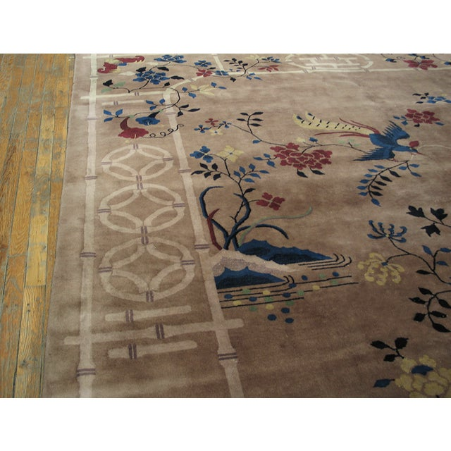 Antique Art Deco Chinese Rug For Sale - Image 4 of 8
