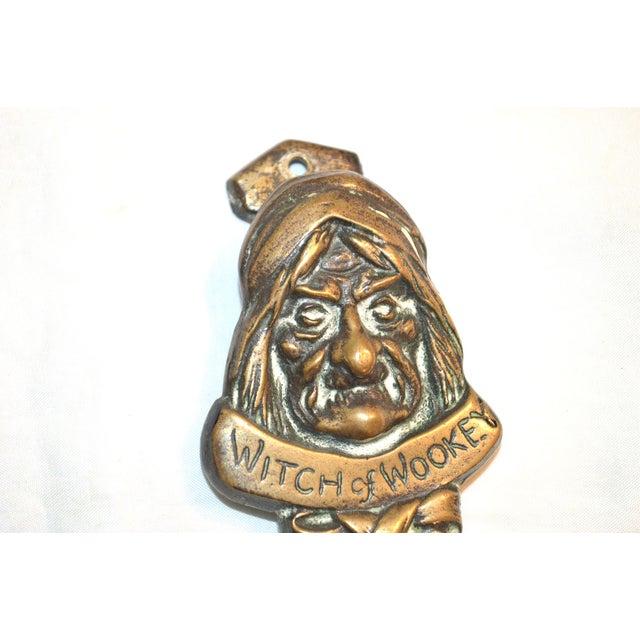 Witch 1927 Bronze Door Knocker For Sale - Image 6 of 9