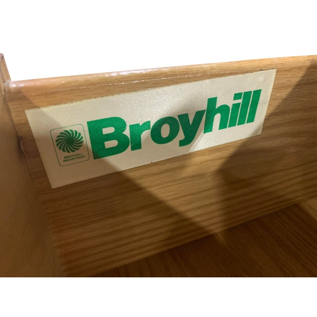 Wood Vintage French Provincial 9 Drawer Dresser by Broyhill For Sale - Image 7 of 13