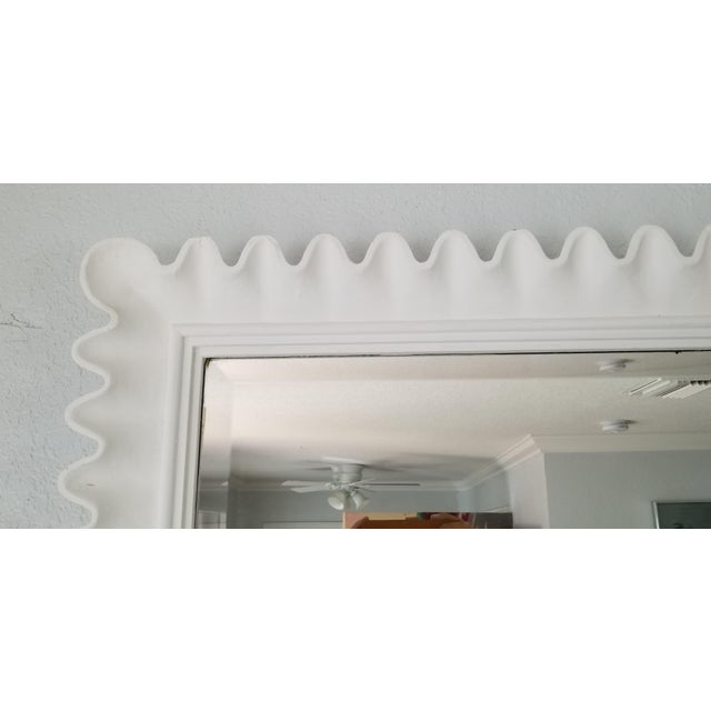 Wood Marge Carson Scalloped Wall Mirror . For Sale - Image 7 of 9