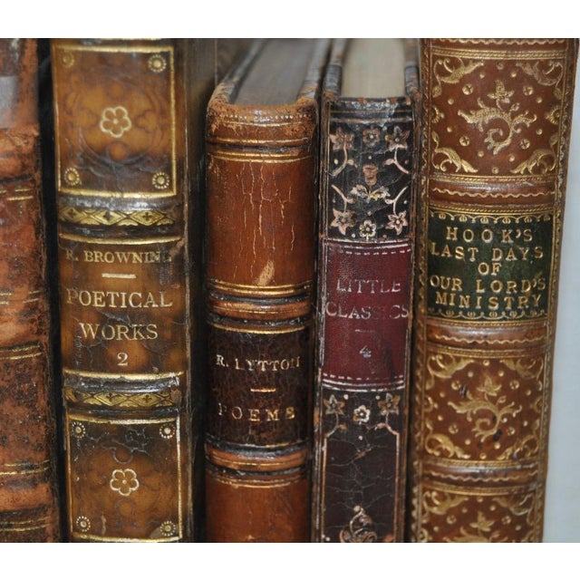 Antique Leather Bound Books - Set of 6 - Image 7 of 7