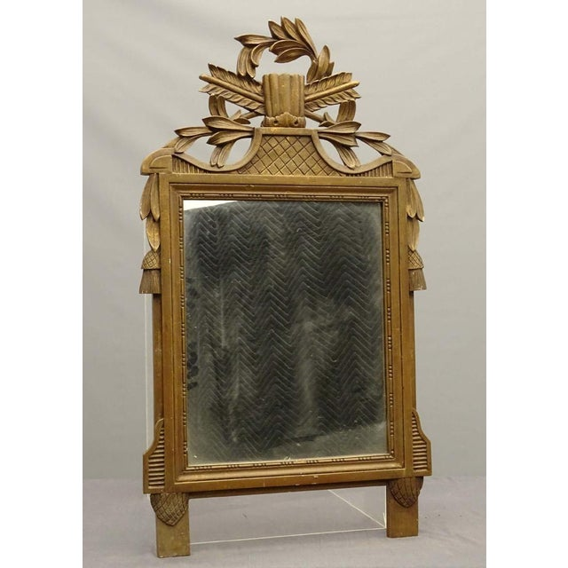 Neoclassical Decorative Carved Mirror For Sale - Image 4 of 4