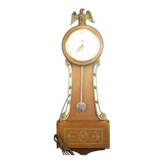 United Electric Wall Clock With Pendulum For Sale