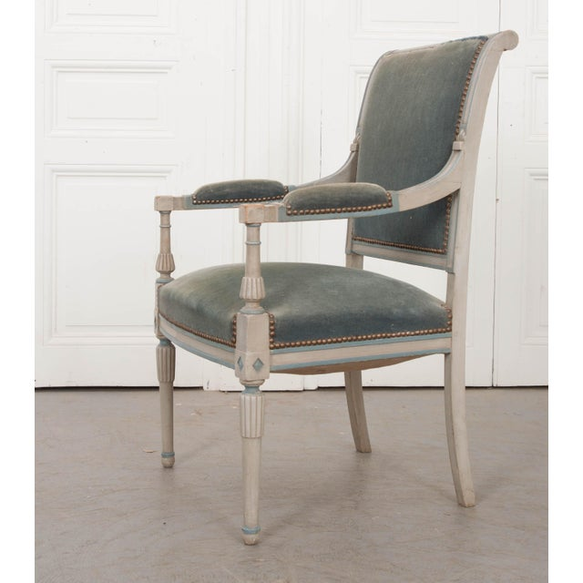 French 19th Century Second Empire Painted Fauteuil For Sale - Image 11 of 13
