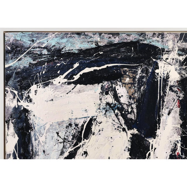 """Abstract painting by William Phelps Montgomery """"Black Beans"""", 2019 Offered for sale is an abstract acrylic painting with..."""