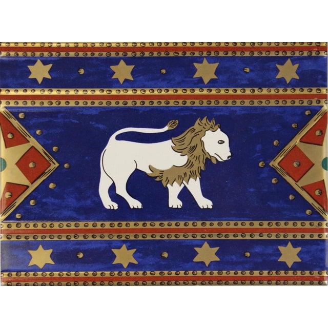 Villeroy & Boch Villeroy & Boch Elephant Enamel Tiles - Set of 5 For Sale - Image 4 of 5