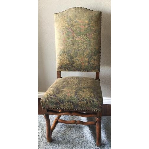 Wood Antique French Os De Mouton Pegged Oak Dining Chairs - a Pair For Sale - Image 7 of 10