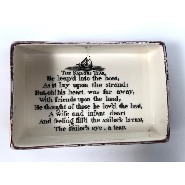 Staffordshire Sunderland Lustreware Porcelain Box With Sailor and Ship Theme For Sale In Boston - Image 6 of 12