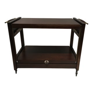Brown Saltman Mahogany Bar/ Serving Cart For Sale