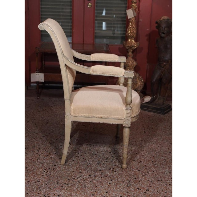 19th Century Painted Directoire Style Fauteuils - Pair For Sale - Image 4 of 8