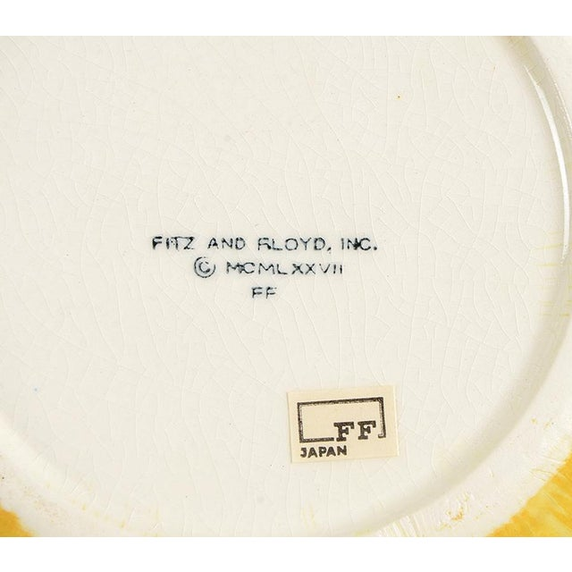 Yellow Vintage Fitz and Floyd Yellow Onion Covered Dish & Underplate For Sale - Image 8 of 9