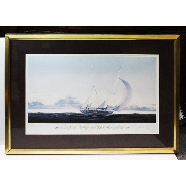 John Mecray Concordia Yawls Print For Sale - Image 9 of 9