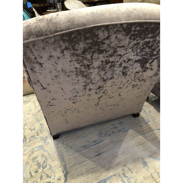 Modern Oversized Lee Industries Upholstered Chairs - a Pair For Sale - Image 3 of 10