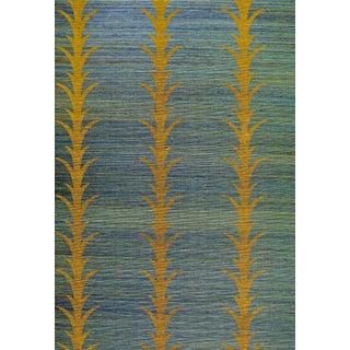 Sample - Schumacher X Celerie Kemble Acanthus Stripe Wallpaper in Tumeric For Sale