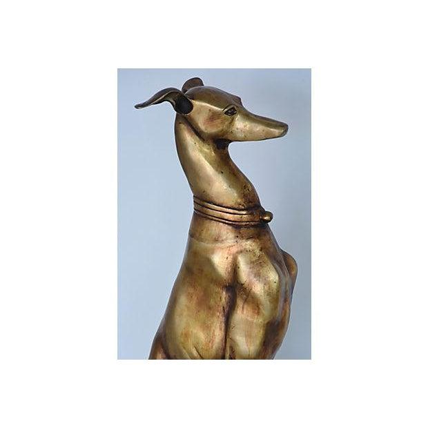 1950s Brass Italian Dog Statue - Image 9 of 12