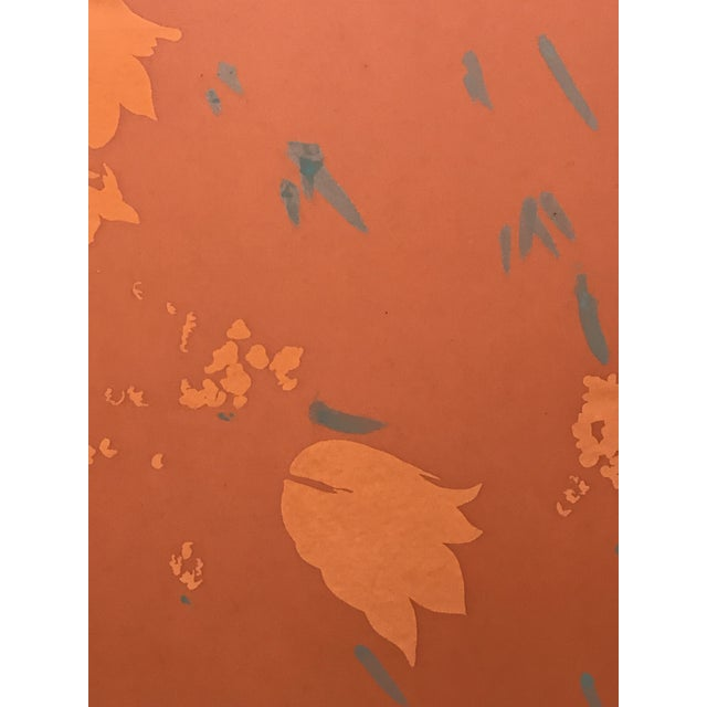 """Abstract """"Parisienne Floral"""" Screen Press Silk Print For Sale - Image 3 of 6"""
