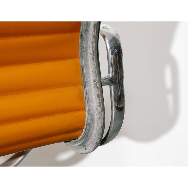 Vintage Eames Aluminum Group Chair in Orange For Sale - Image 9 of 11