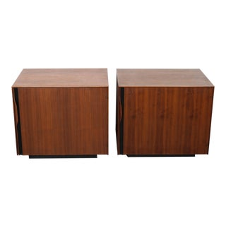 John Kapel for Glenn of California Mid Century Walnut Nightstands