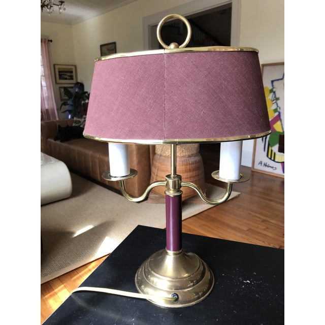 1940s Vintage Double Candle Bouillotte Lamp For Sale - Image 4 of 12