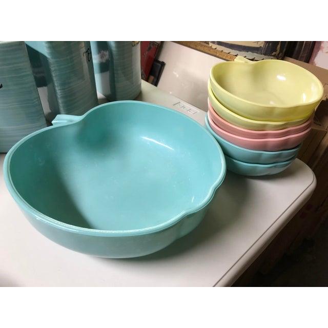 1960's Hazel-Atlas Milk Glass Apple Bowls - Set of 7 For Sale In Los Angeles - Image 6 of 6